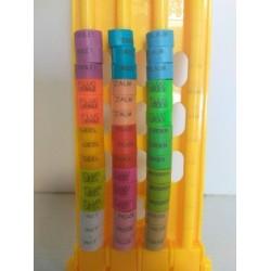 Bagues clips couleur par 500