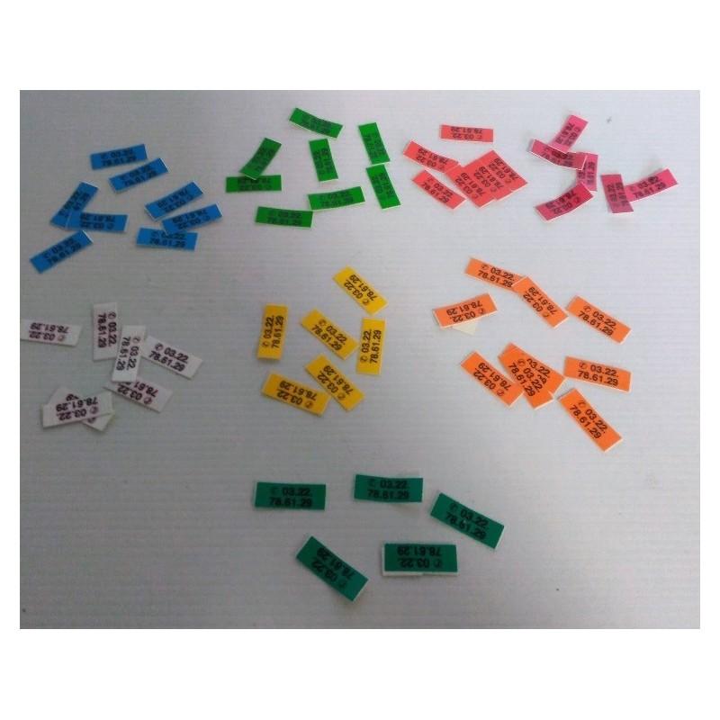 Autocollants couleurs pour bagues puces par 100