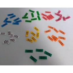 Autocollants couleurs pour bagues puces par 500
