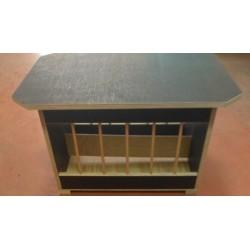 Table en bois pour abreuvoir+mangeoire à grit